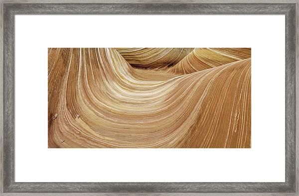 Sandstone Lines Framed Print