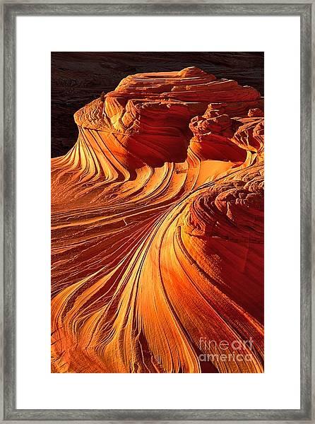 Sandstone Silhouette Framed Print