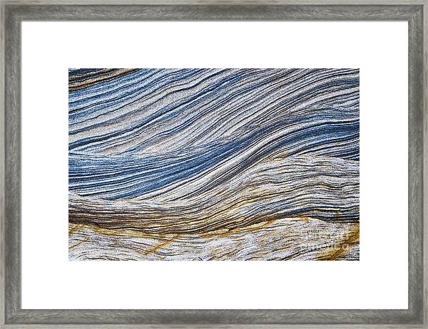 Sandstone Strata Framed Print