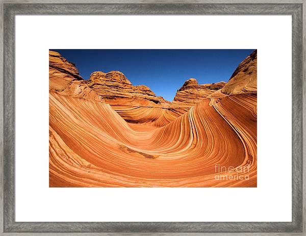 Sandstone Surf Framed Print