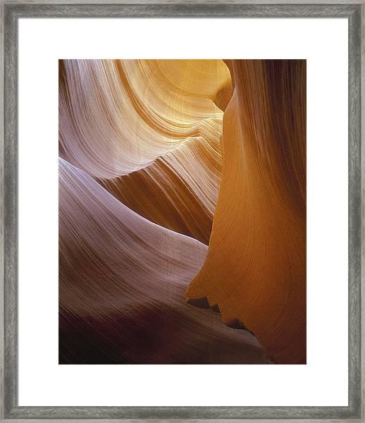 Sandstone Vortex Framed Print