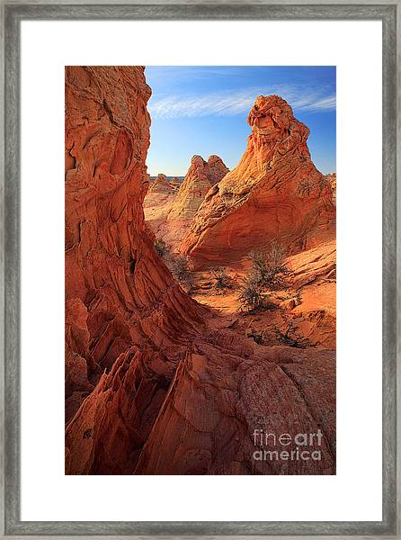 Sandstone Window Framed Print