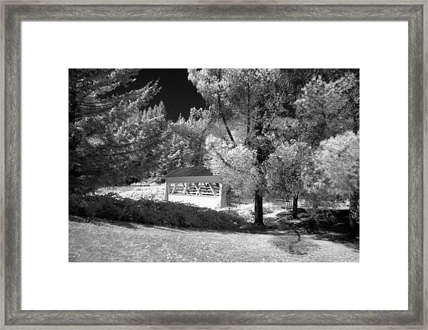 Sandy Creek Bridge Framed Print