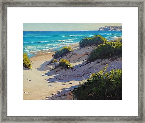 Sandy Dunes Framed Print