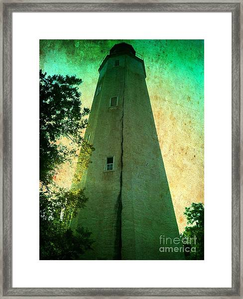Sandy Hook Lighthouse Framed Print