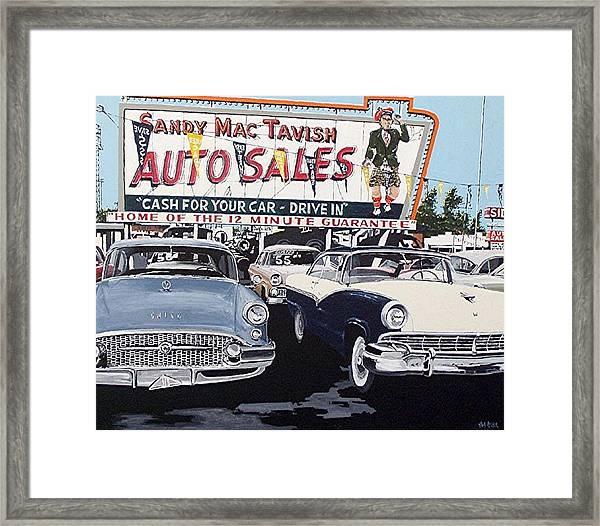 Sandy Mactavish Framed Print by Paul Guyer