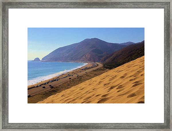 Sandy Mugu Point Looking North Framed Print