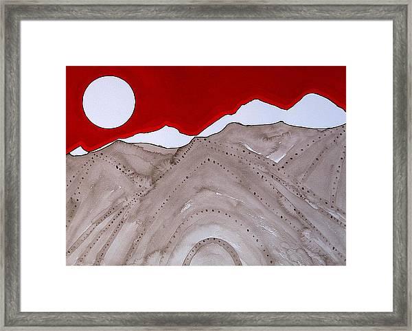 Sangre De Cristo Peaks Original Painting Framed Print