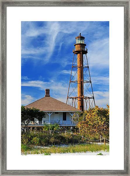Sanibel Island Lighthouse Framed Print