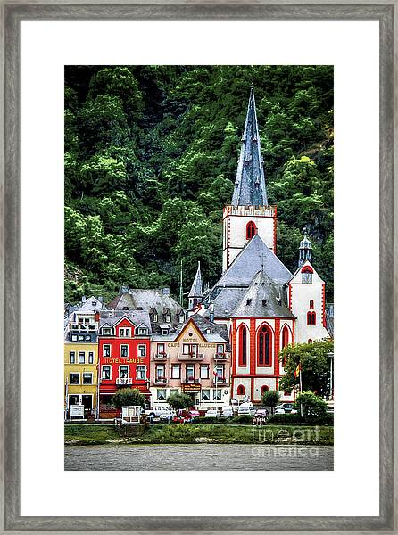 Sankt Goar On The Rhine Framed Print