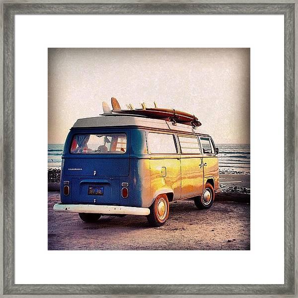 Surf Parking Framed Print