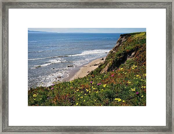 Santa Barbara Beach Beauty Framed Print