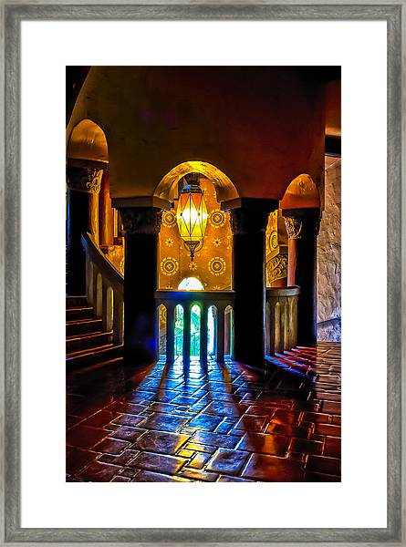 Santa Barbara Courthouse Glow Framed Print