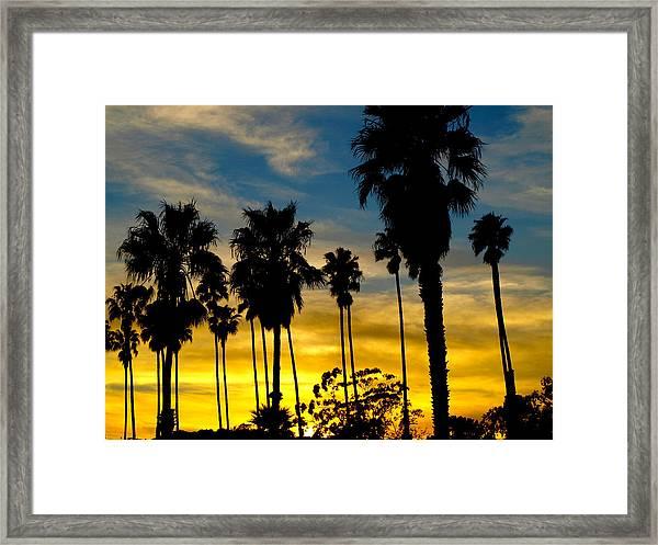Santa Barbara Sunset Framed Print