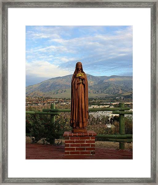Santa Clara De Asis Framed Print