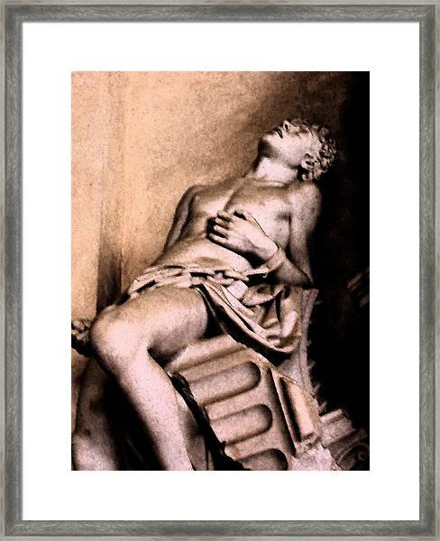 Santa Croche Sculpture Framed Print