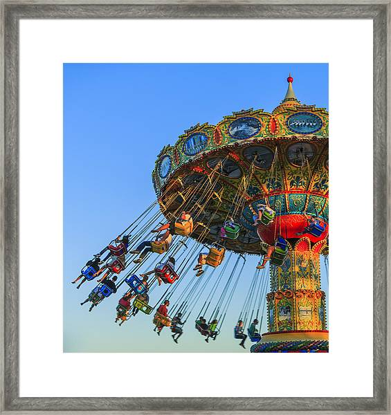 Santa Cruz Seaswing At Sunset 5 Framed Print