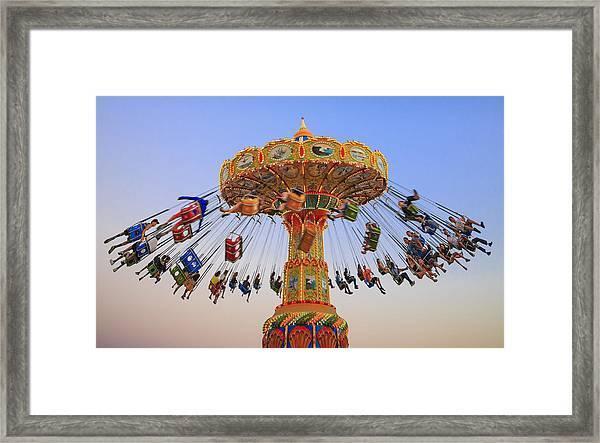 Santa Cruz Seaswing At Sunset 8 Framed Print