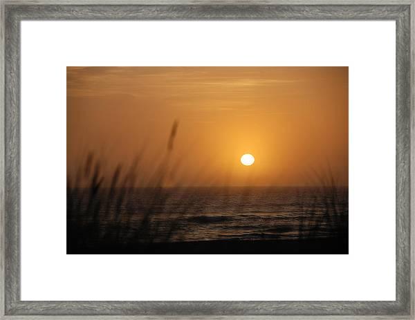 Santa Cruz Sunset Framed Print