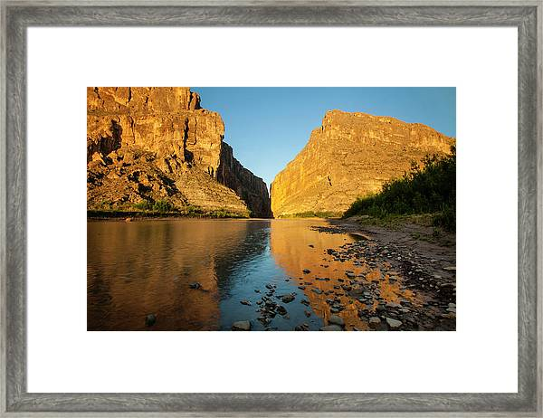 Santa Elena Canyon And Rio Grande Framed Print