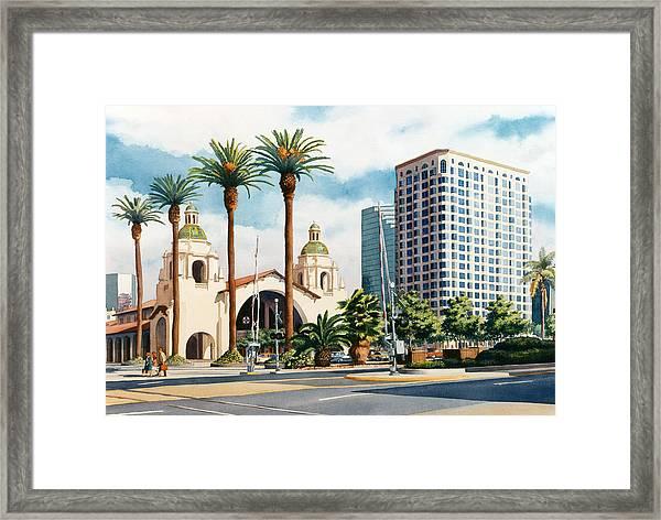 Santa Fe Depot San Diego Framed Print