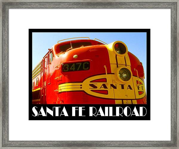Santa Fe Railroad Color Poster Framed Print