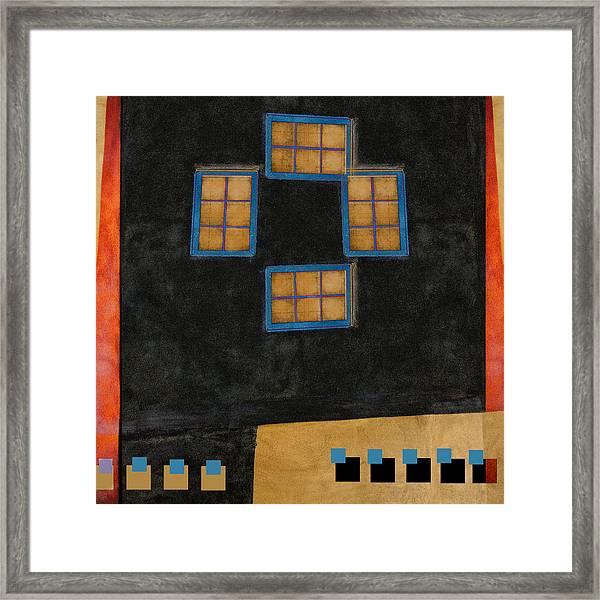 Santa Fe Windows Framed Print