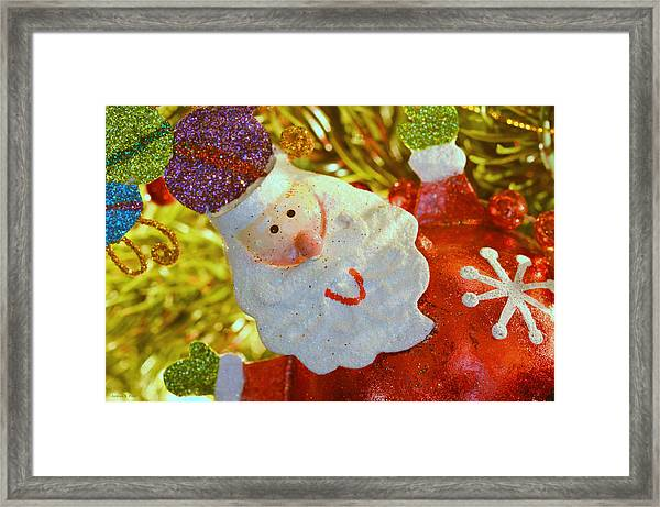 Santa Greetings Framed Print