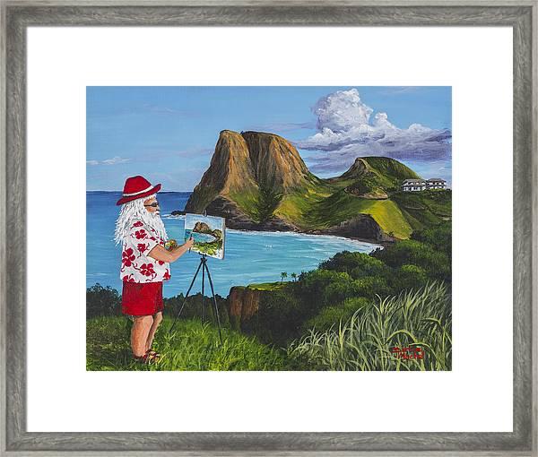 Santa In Kahakuloa Maui Framed Print