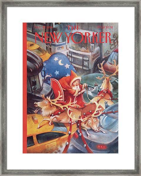New Yorker December 19th, 1994 Framed Print