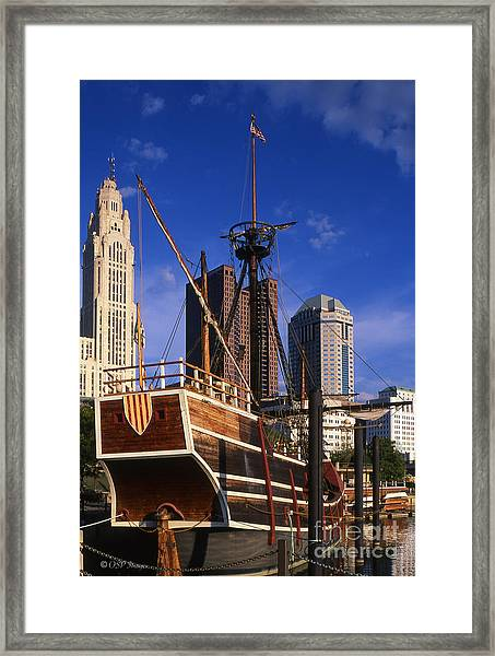 Santa Maria Replica Photo Framed Print