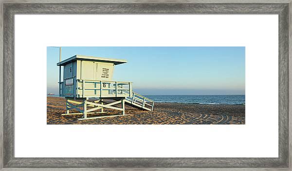 Santa Monica Lifeguard Station Framed Print