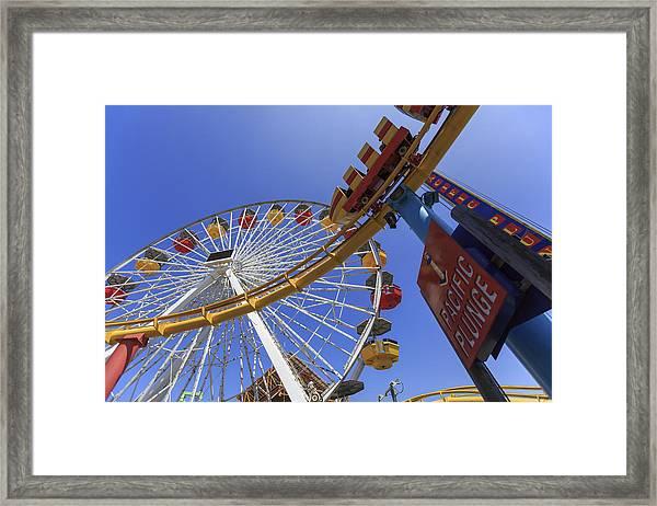 Santa Monica Pier Pacific Plunge Framed Print