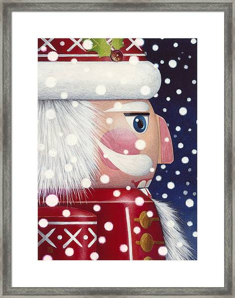 Santa Nutcracker Framed Print