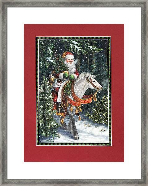 Santa Of The Northern Forest Framed Print
