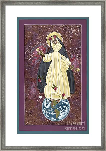 Santa Rosa Patroness Of The Americas 166 Framed Print