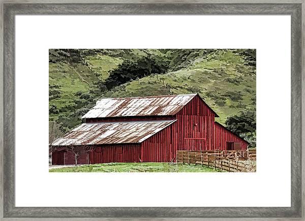 Santa Rosa Rd Barn Framed Print