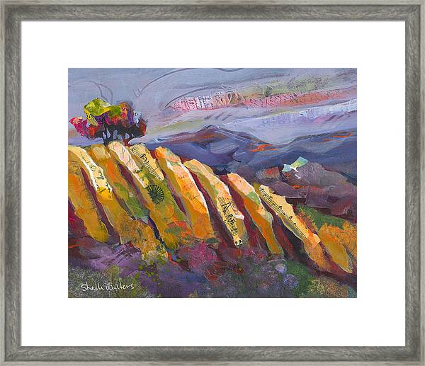 Framed Print featuring the painting Santa Ynez Valley by Shelli Walters