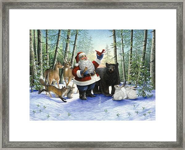 Santa's Christmas Morning Framed Print