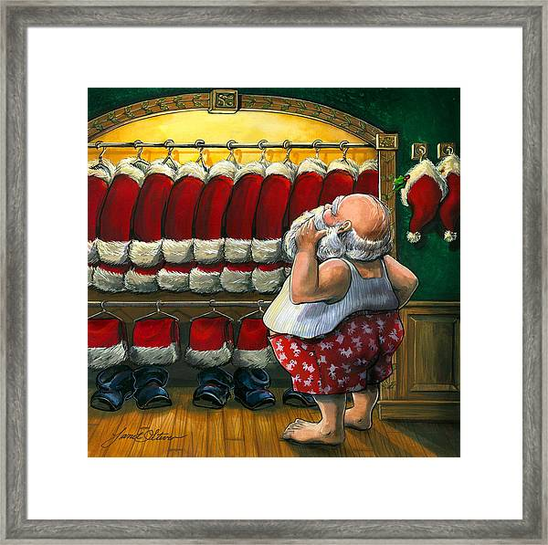 Santa's Closet Framed Print