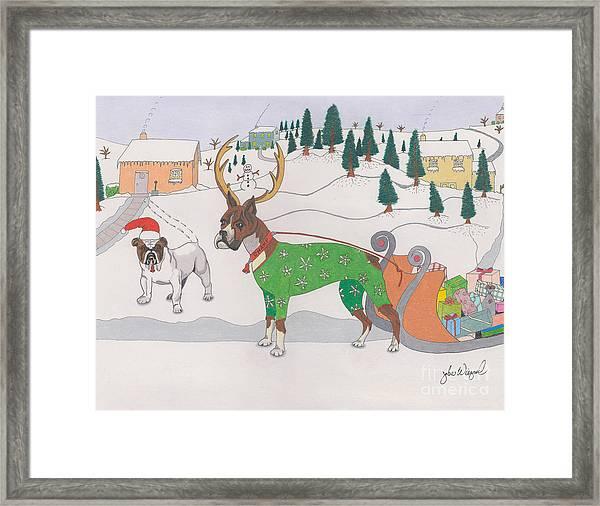 Santas Helpers Framed Print
