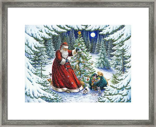 Santa's Little Helpers Framed Print