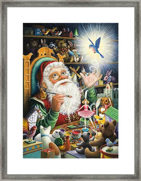 Santa's Workshop Framed Print