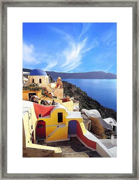 Santorini 08 Framed Print