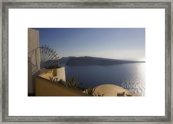 Santorini View 24x14 Framed Print