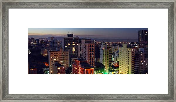 Sao Paulo Downtown At Dusk Framed Print
