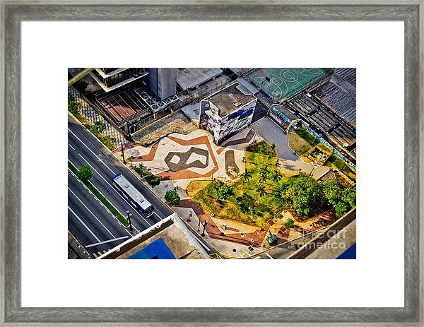 Sao Paulo Downtown - Geometry Of Public Spaces Framed Print