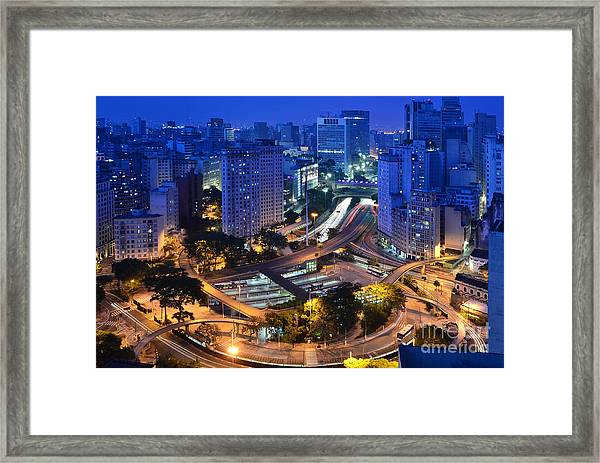 Sao Paulo Skyline - Downtown Framed Print