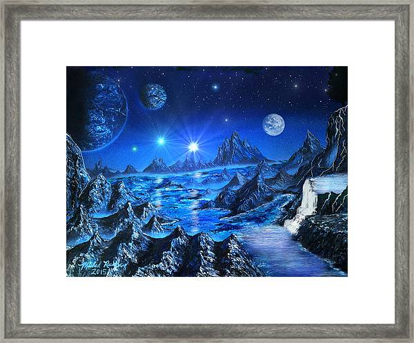 Sapphire Planet Framed Print
