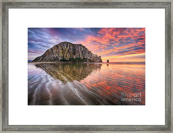 Sapphire Red Framed Print